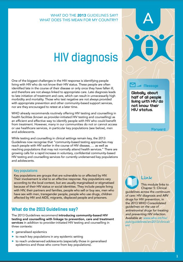 Community Guide Module A: HIV diagnosis