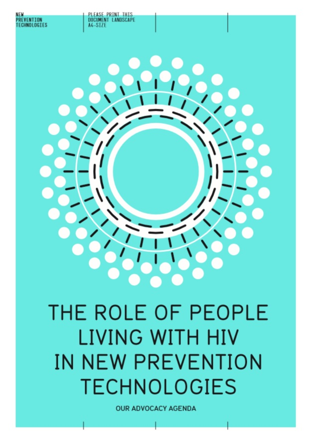 The role of people living with HIV in new prevention technologies