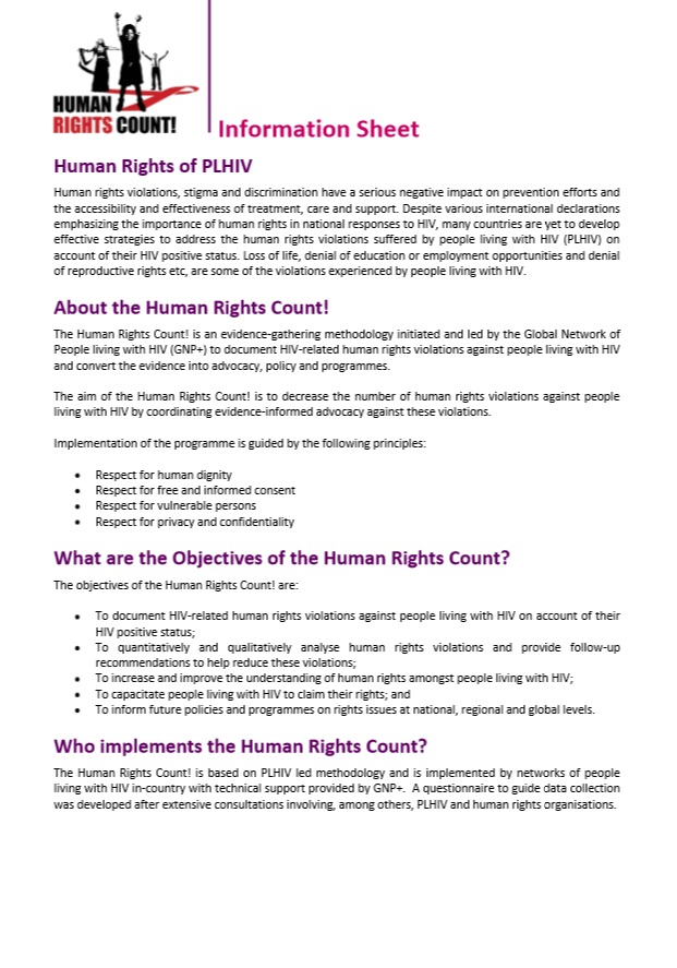 Human Rights Count! Information Sheet