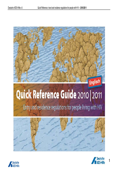Quick Reference Guide – Travel Restrictions for People Living with HIV