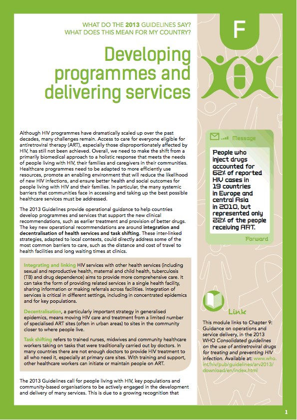 Community Guide Module F: Programmes