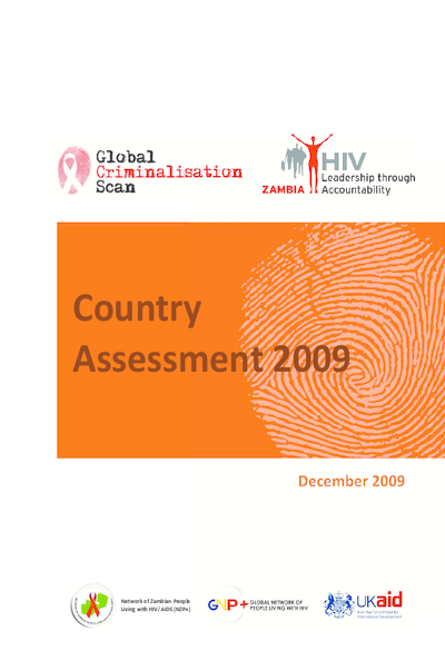 Criminalisation Scan Country Assessment – Zambia