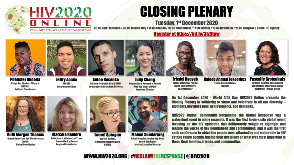 HIV2020 closing plenery